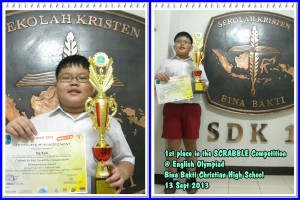 Juara 1 Scrabble @ English Olympiad